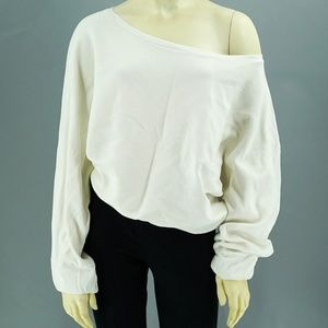 Zara Oversized Off The Shoulder White Sweater